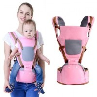 Baby carrier sling backpack bag baby hipseat wrap 360 basket for newborns hip seat Ergonomic multifunctional Pink