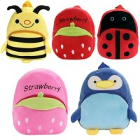 Cartoon Animal Fruit Pattern Kids Child Small Soft Plush Schoolbag School Bag Backpack