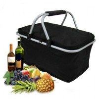 30L Large Insulated Thermal Cooler Bag Picnic Camping Lunch Tote Storage Ice Box Black