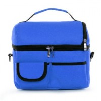 Cooler Lunch Bag Food Organizer Tote (Deep Blue)