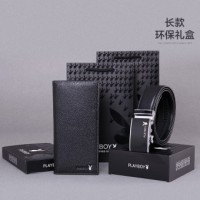 Men's short paragraph wallet first layer of leather young belt gift leather suit leather thin section wallet