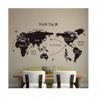 60 X 90cm World Trip Map Quotes Living Room Wall Art Bedroom Posters