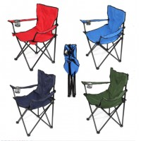 Portable Folding Outdoor Armless Camping Chair With Carry Bag