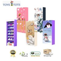 9 Tiers Shoe Rack Dust Cover Cabinet