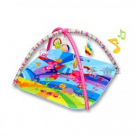 (Bigger 91 X 83 ) Activity play gym and Play Crawling Blanket Mat - Animal Friends