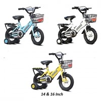 Children Bike with Double Seat and Training Wheels 14 and 16 Inch Kids Bicycle
