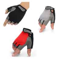 1 Pair Riding Half Finger Protective Glove