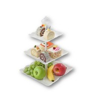 New European Design 3 Layers Cup Cake and Fruit Decorate Display Stand Rack