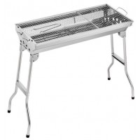 Stainless Steel Charcoal Grill Barbecue Portable Folding Barbecue