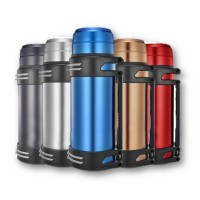 2.0L Stainless Steel Portable Travel Thermal Thermo Flask Pot Bottle