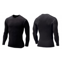 Men Compression Fitness Sport Wear Quick Dry Long Sleeve Tights Gym Bodybuilding Shirt