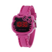 Girl Kids Children Hello Kitty LED Digital Watch (Pink Color)