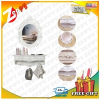 European Design Wall Mount Hanging Cosmetic Make Up Dressing Table with Mirror