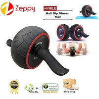 Rebound Abdominal Muscles ABS Fitness Gym Double Giant Wheel With Free Foam Mat