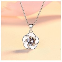 MII Flower Women Sterling Silver Jewelry (Without Chain)