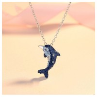 MII Dolphin Women Sterling Silver Jewelry (Without Chain)