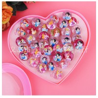 MII Korean Children's Ring Resin Design Cartoon