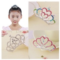 MII Children's Crown Jewelry Princess Rhinestones Crown Hair
