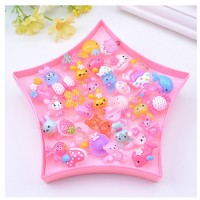 MII Children's Resin Ring Toy Girl Jewelry Kindergarten Small
