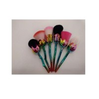 6 suits rose hand makeup brush purple +1 branch mermaid brush